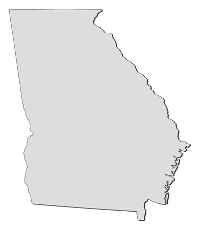 Map of Georgia, a state of United States.