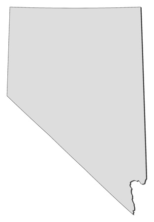 nevada: Map of Nevada, a state of United States.