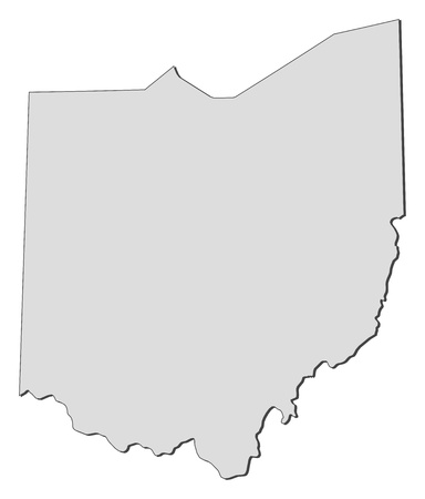 Map of Ohio, a state of United States.