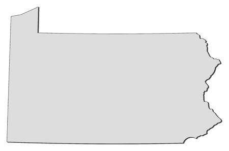 ペンシルバニア州、アメリカ合衆国の州の地図。