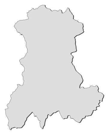 Map of Auvergne, a region of France. Vector
