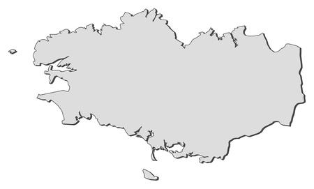 land mark: Mapa de Breta�a, una regi�n de Francia. Vectores