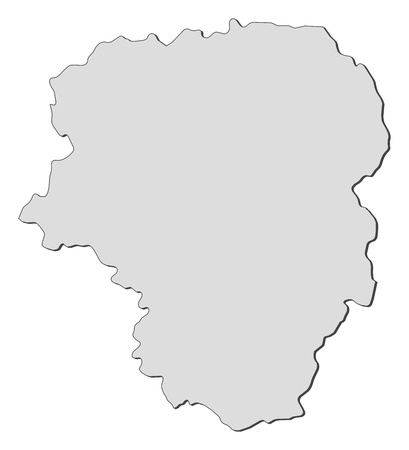 Map of Limousin, a region of France. Illustration