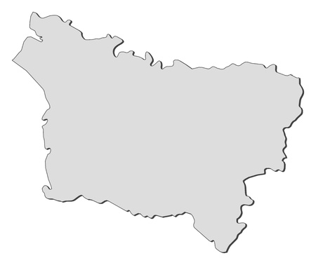 Map of Picardy, a region of France. Vector