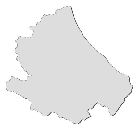 Map of Abruzzo, a region of Italy.