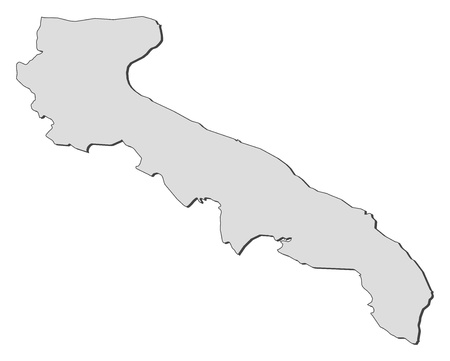 Map of Apulia, a region of Italy. 向量圖像