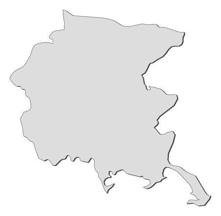 Map of Friuli-Venezia Giulia, a region of Italy.