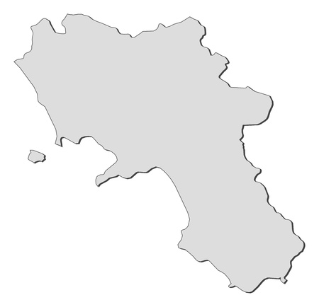 provinces: Map of Campania, a region of Italy.