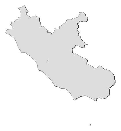 provinces: Map of Lazio, a region of Italy. Illustration