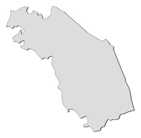 provinces: Map of Marche, a region of Italy.