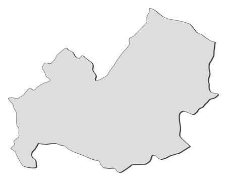 Map of Molise, a region of Italy. Vector