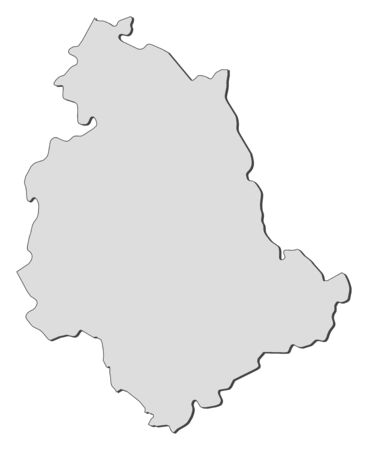 Map of Umbria, a region of Italy. Vector