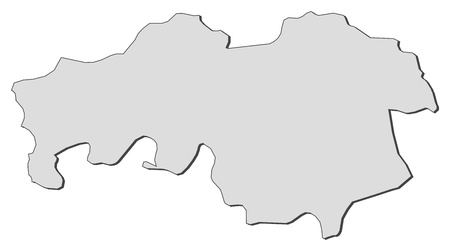 Map of North Brabant, a province of Netherlands.