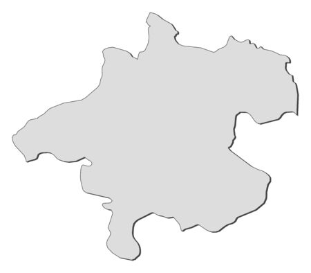 Map of Upper Austria, a state of Austria. Stock Vector - 14414970