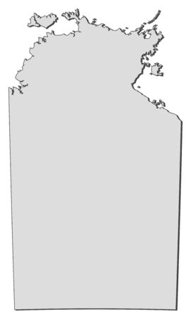 australie: Map of Northern Territory, a state of Australia.