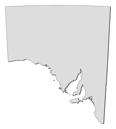 australie: Map of South Australia, a state of Australia.