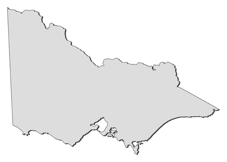 Map of Victoria, a state of Australia.