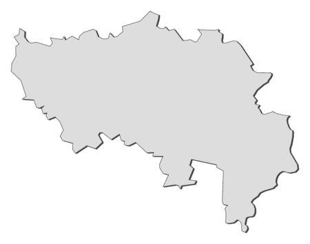 Map of Li�ge, a province of Belgium. Stock Vector - 14414948
