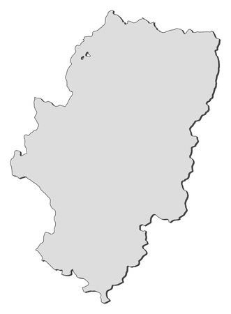 Map of Aragon, a region of Spain.