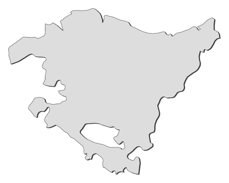 basque country: Map of Basque Country, a region of Spain.