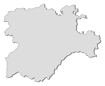 Map of Castile and Leoacuten, a region of Spain. Vector
