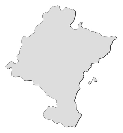 Map of Navarre, a region of Spain. Vector