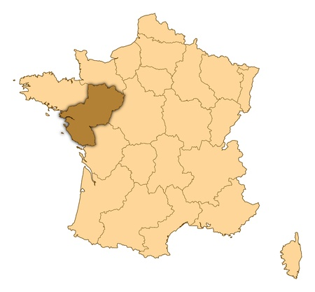 pays: Map of France where Pays de la Loire is highlighted.