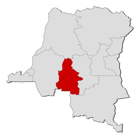 Kasai-Occidental을 강조하는 여러 지방과 콩고 민주 공화국의 정치지도. 스톡 콘텐츠 - 14450022