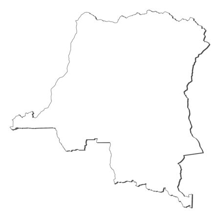 republique: Map of Democratic Republic of the Congo with the several states