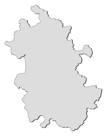 anhui: Map of Anhui, a province of China. Illustration