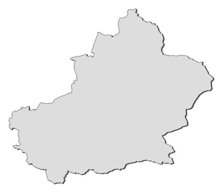 Map of Xinjiang, a province of China. Stock Vector - 14449999