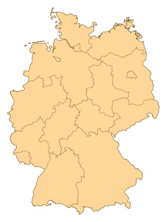 shady: Map of Germany with the several provinces.