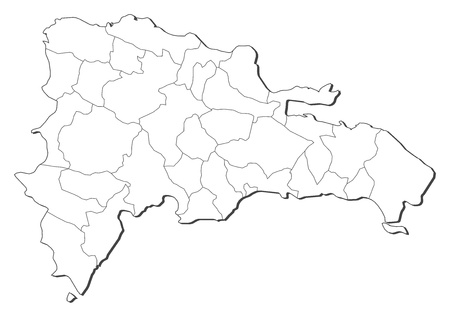 dominican republic: Political map of Dominican Republic with the several regions. Illustration