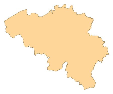 Map of Belgium with the several provinces. Illustration
