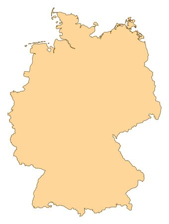 Map of Germany with the several provinces. Vector