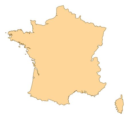 Map of France with the several provinces. Stock Vector - 14606017