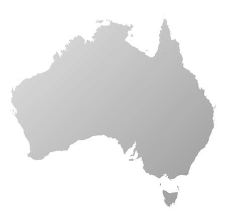 tone shading: Map of Australia, filled with a linear gradient.