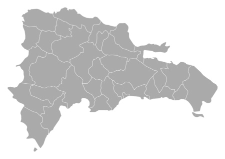 Map of Dominican Republic with the provinces.