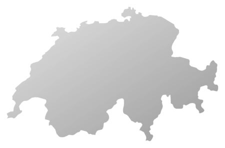Map of Swizerland, filled with a linear gradient.