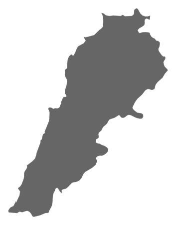 southwest asia: Map of Lebanon as a dark area.