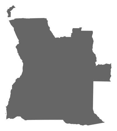 ngola: Map of Angola as a dark area.