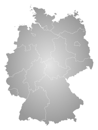tone shading: Map of Germany, filled with a radial gradient.