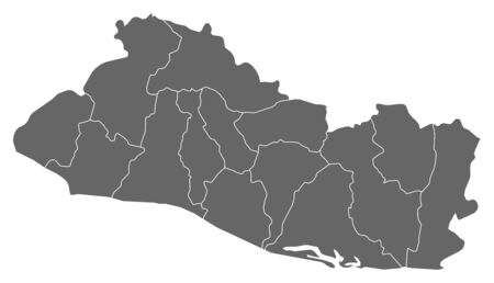 mapa de el salvador: Mapa de El Salvador como una zona oscura.