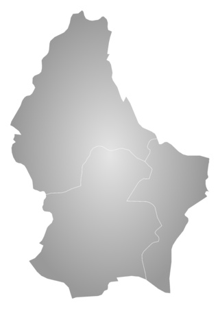 tone shading: Map of Luxembourg, filled with a radial gradient. Illustration