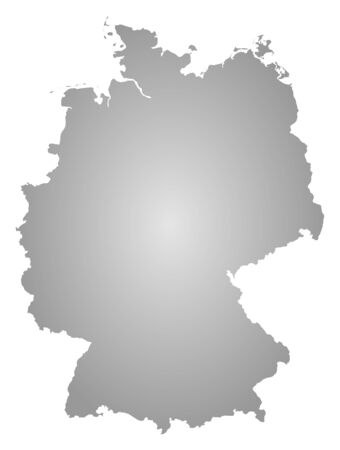 federal republic of germany: Map of Germany, filled with a radial gradient.
