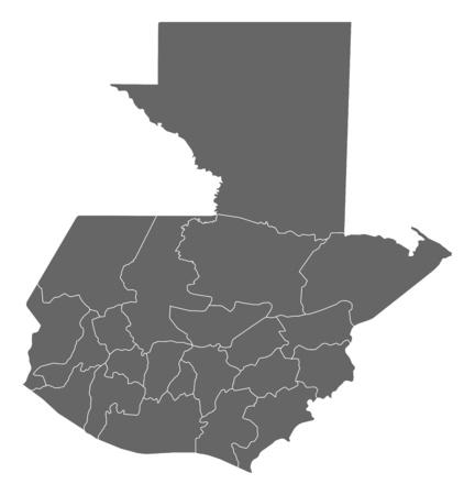 Carte du Guatemala comme une zone sombre. Banque d'images - 57903741