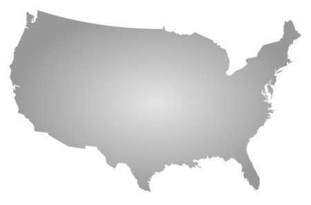 tone shading: Map of United States, filled with a radial gradient.