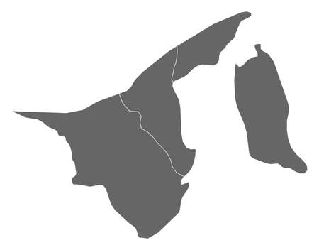 map of brunei: Map of Brunei as a dark area.