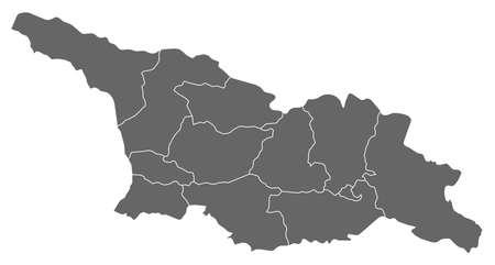 area: Map of Georgia as a dark area. Illustration