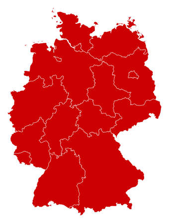 Map of Germany in black with the provinces.